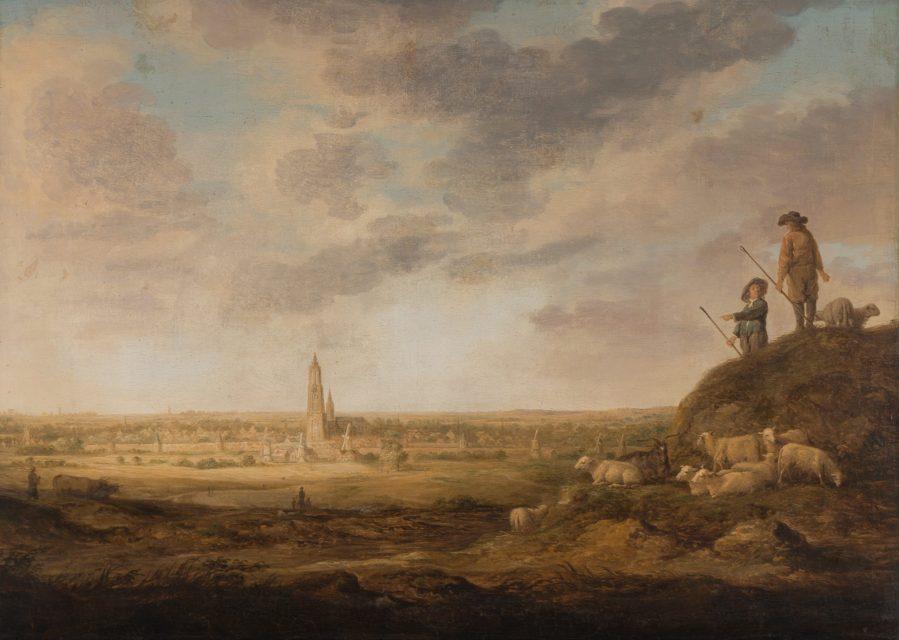 Albert Cuyp - Zicht op Amersfoort