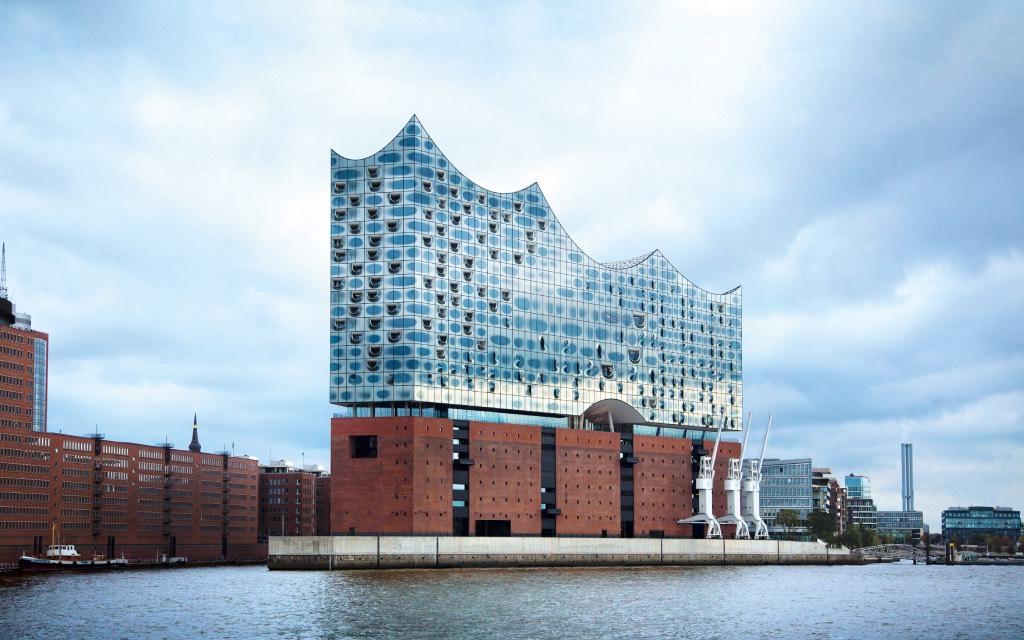 Hamburg museumstad, de Elbphilharmonie