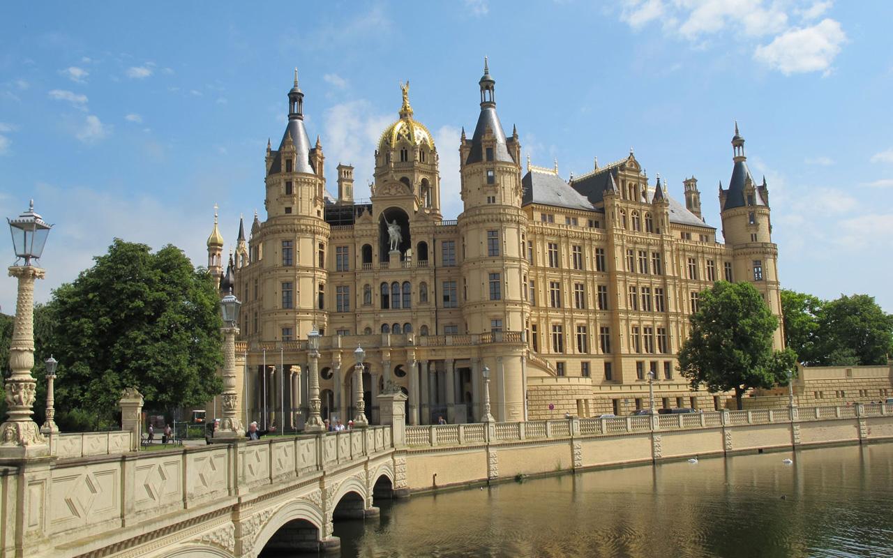 Schwerin kasteel in Duitsland