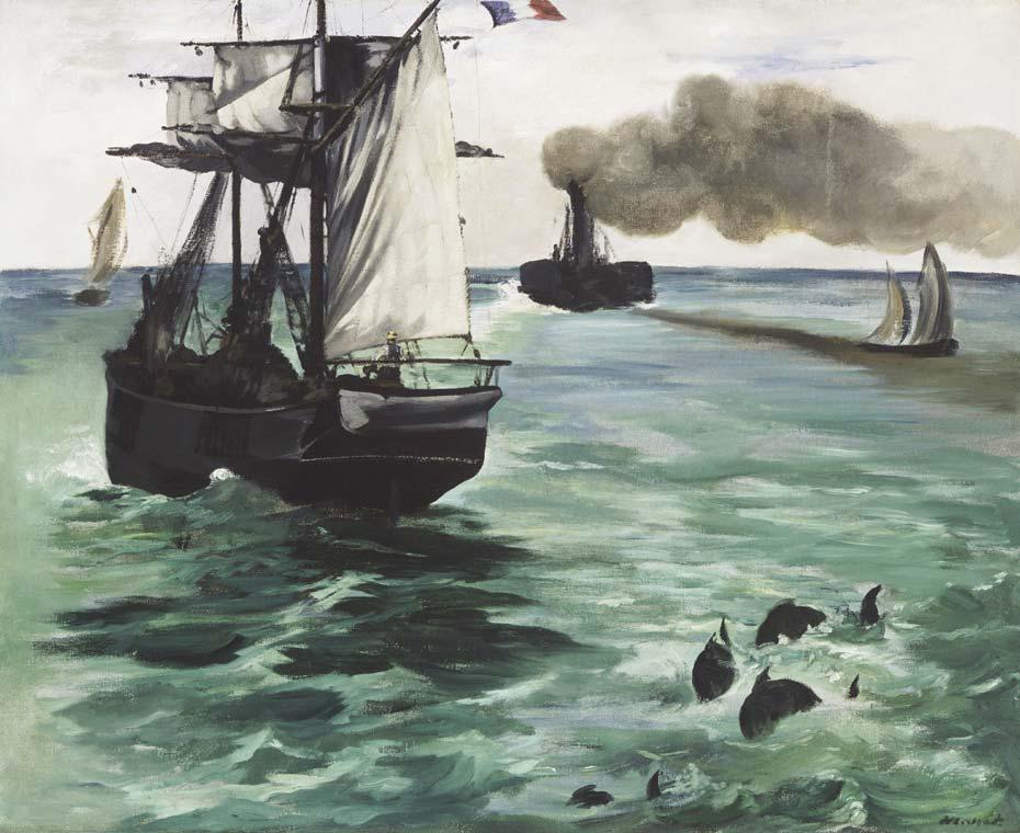 Edouard Manet tentoonstelling Wuppertal stoomschip