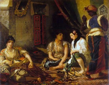 De vrouwen van Algerije door Eugene Delacroix