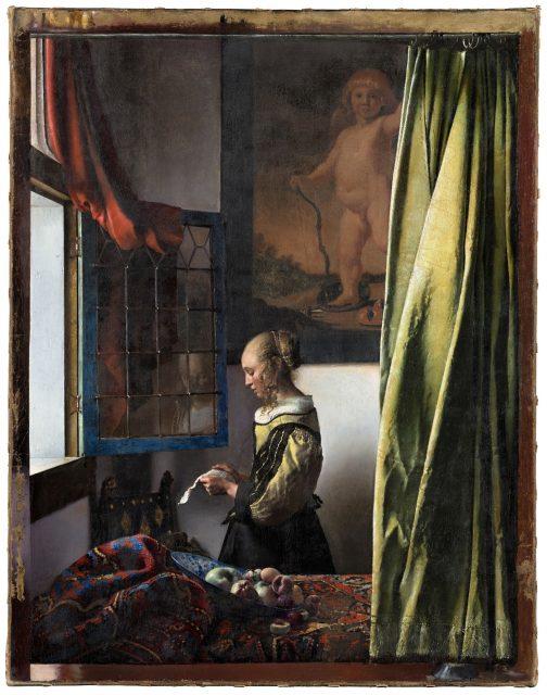Brieflezend meisje (1657-59) Johannes Vermeer na restauratie Dresden