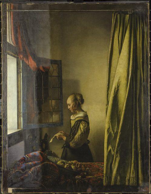 Brieflezend meisje (1657-59) Johannes Vermeer tijdens restauratie Dresden